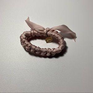 Pink hair tie